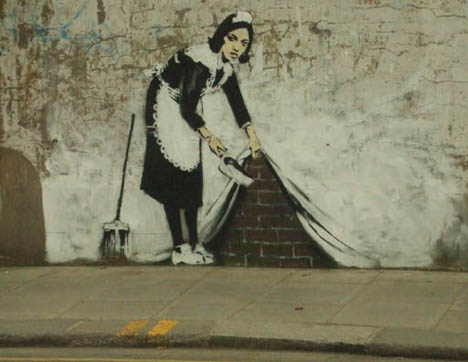 Banksy-maid-sweep