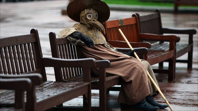 Plague doctor taking a break