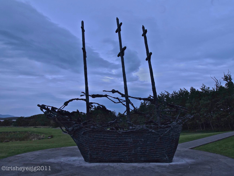 Coffin Ship at dusk, Coragh Patrick, County Mayo, Ireland